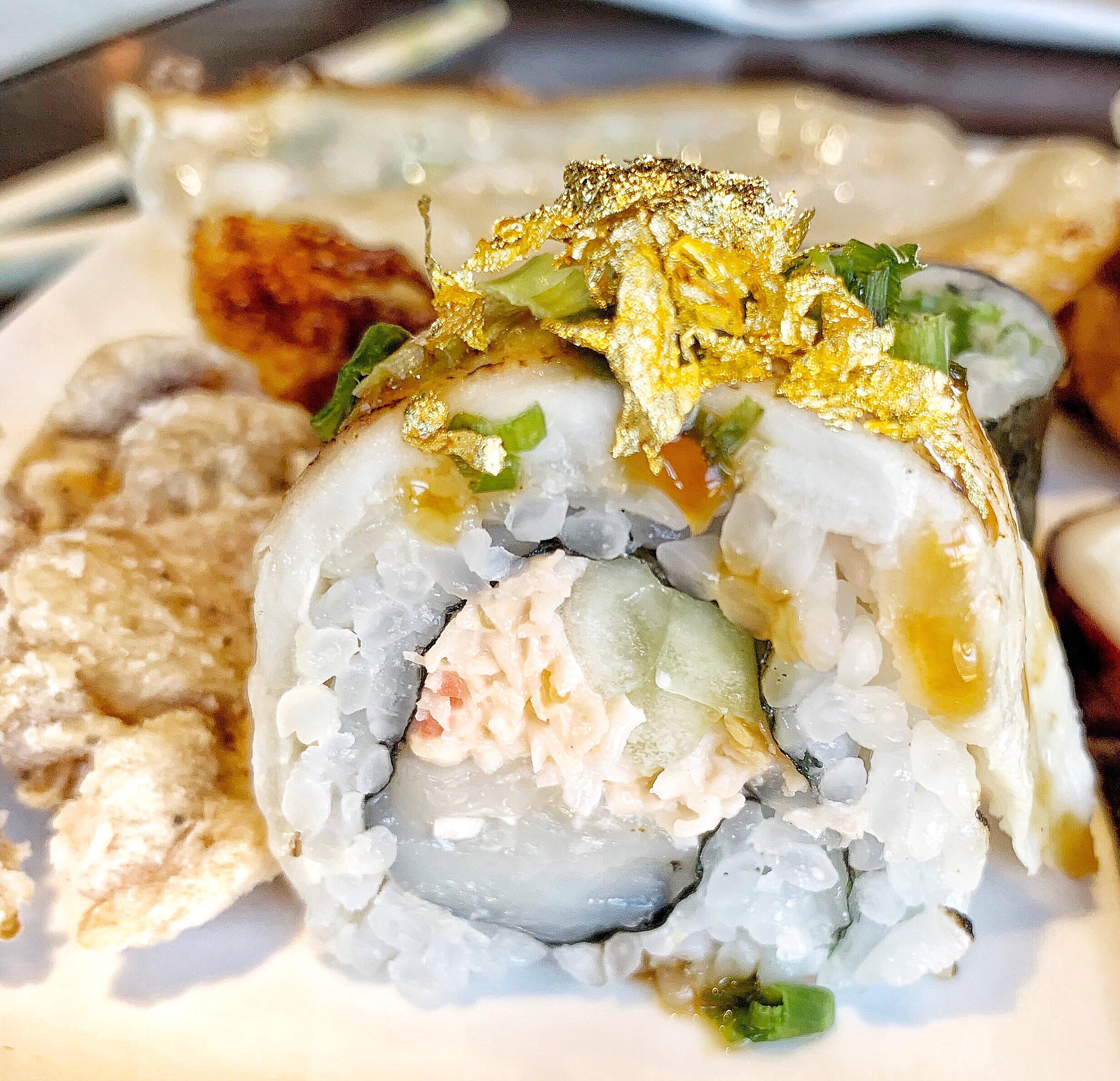 Hana Roll - Crab, Wagyu, & gold leaf