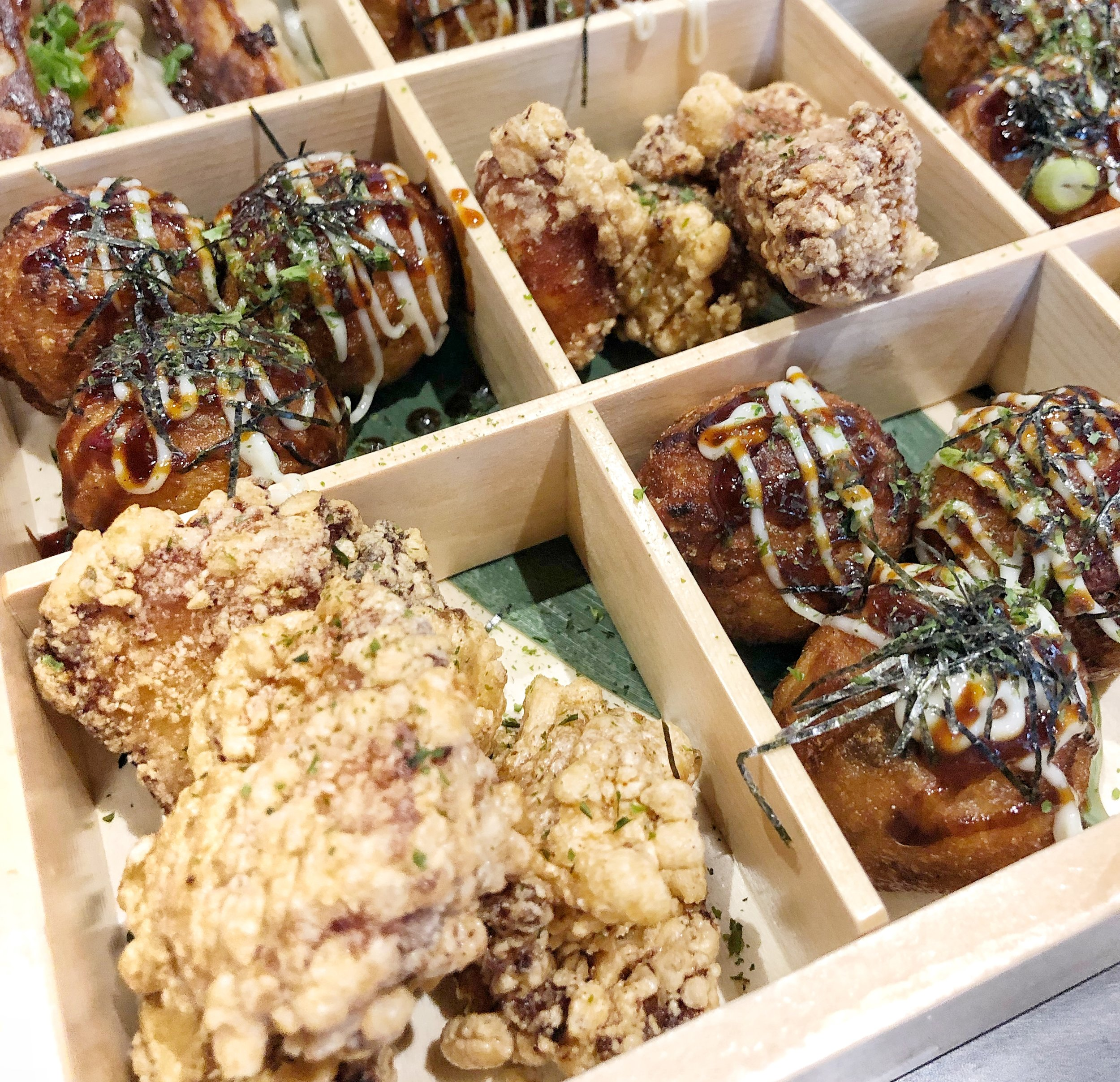 Karaage & Takoyaki - Karaage is essentially a delicious Japanese chicken nugget, and takoyaki is basically an octopus hush puppy. If you haven't had either of these, DO NOT PASS GO & RUN STRAIGHT TO YUME.