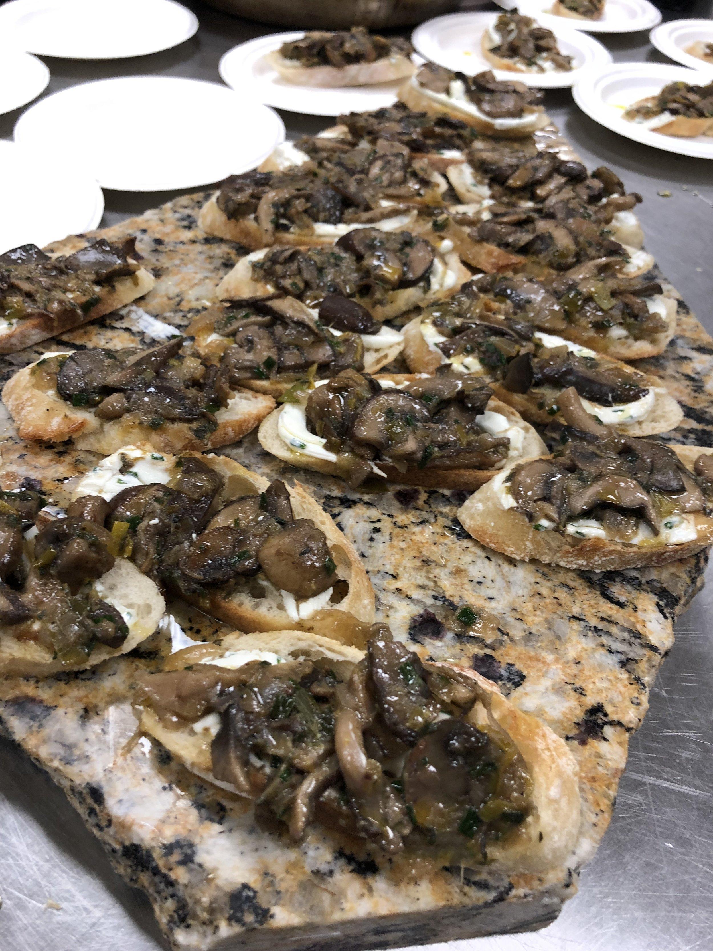 Barberry Lunchbox - Chef Majid AmoorpourWild mushroom and truffle-infused goat cheese crostini