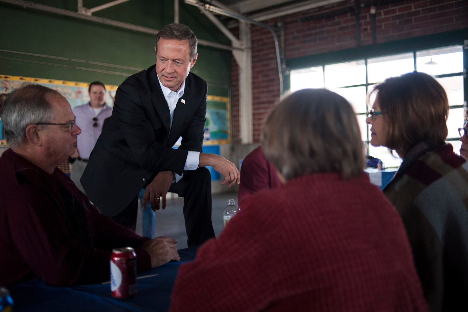 U.S. Democratic presidential candidate Maryland Governor Martin O'Malley makes campaign stops in Burlington, IA.