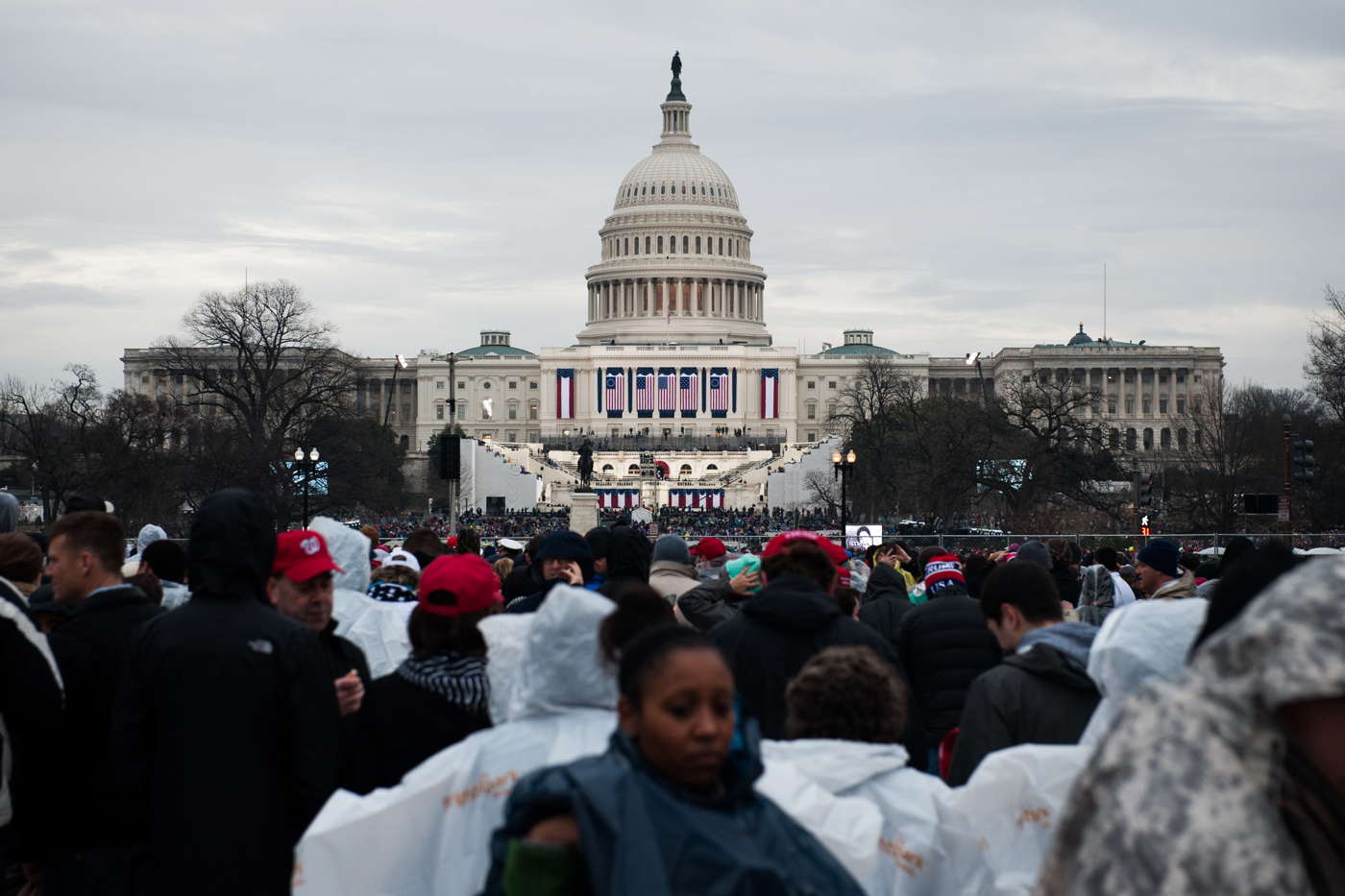 The U.S. Capitol Building is seen on the day of President Donald Trump's inauguration as the 45th President of the United States in Washington, D.C., on January 20, 2017. Credit: Mark Kauzlarich for CNN