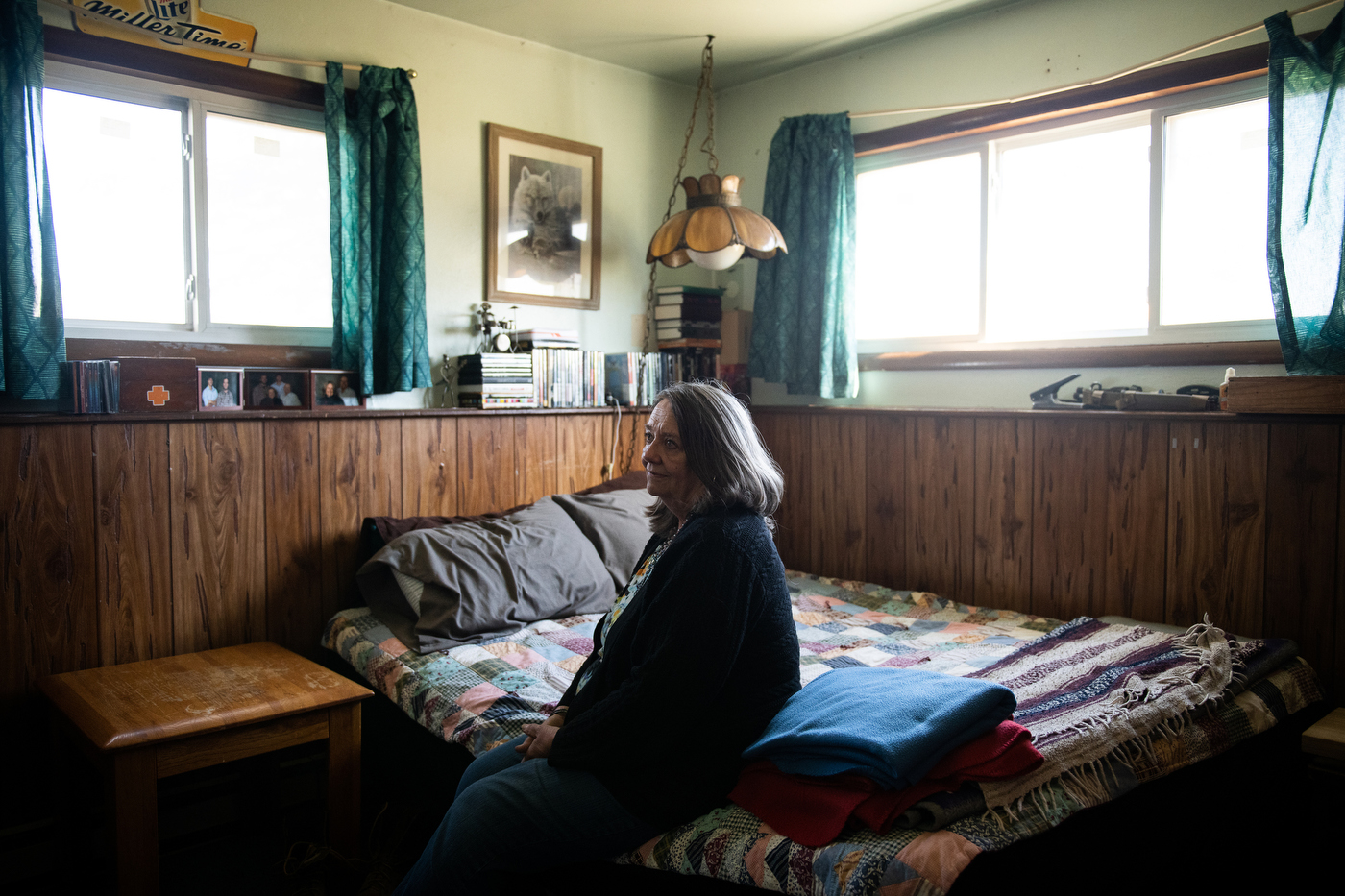 Portraits of Beth Hulm in her kitchen and the bedroom of her son Kyle Hulm in Bison, SD on October 20, 2018. Kyle Hulm, at 33 died of an assumed suicide in Dickinson, ND after a 21 year struggle with mental health issues.NGS Grant Number: GR-000040422