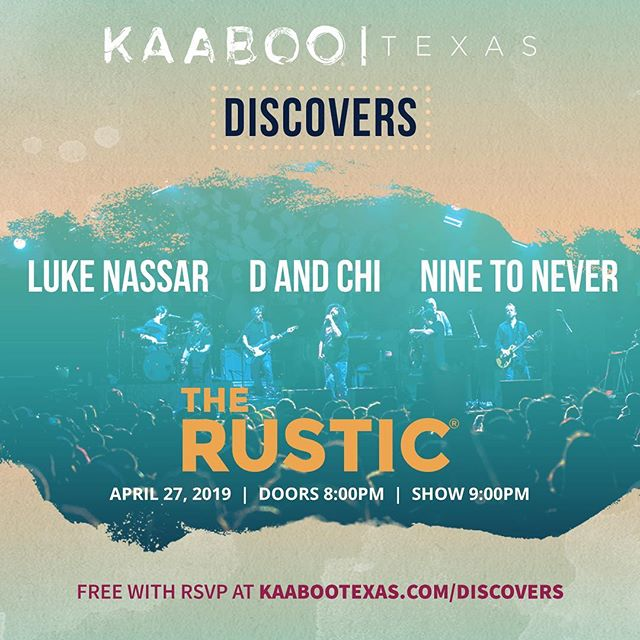 Dallas I need you tonight! @kaabootexas discovers showcase is at 9, and I'll be playing for a panel of judges to decide the winner. Come help me influence their decision 😁
