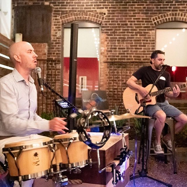 Saturday Get in with the outside w. Mean Cajon  Mean Cajon has made a few unannounced visits to our garden this summer and they are back to celebrate the start of fall. It's hard to believetwo guys can bring this muchsound, and energy, but their hearts are in it and they're in the garden 7-10pm.  #nhv #inwiththeoutside #avantgarden #summer #barfeatures #boccegarden #happyhournhv #cocktailnhv @meancajon
