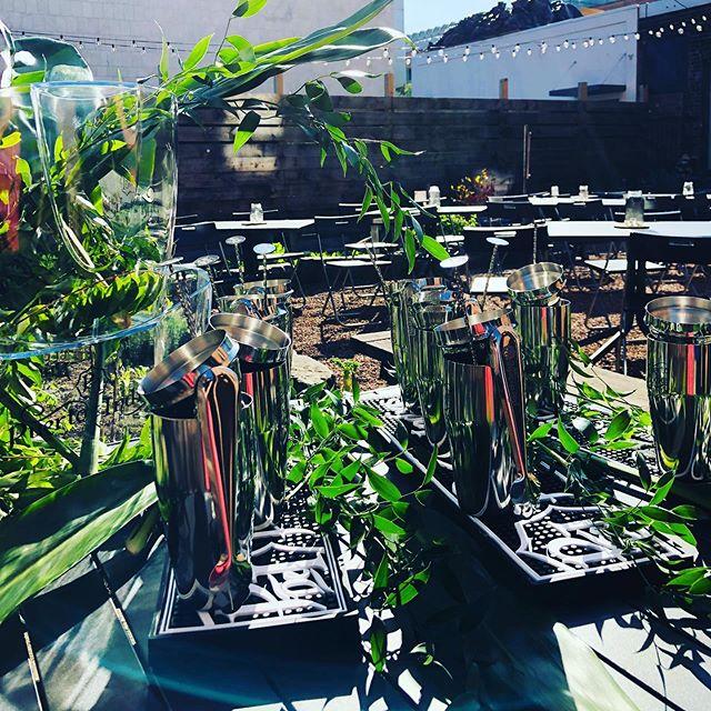 Preparations for Gin Club v. 1: Puerto de Indias  #ginclubnhv #nhv #inwiththeoutside #avantgarden #barfeatures #boccegarden #happyhournhv #cocktailnhv