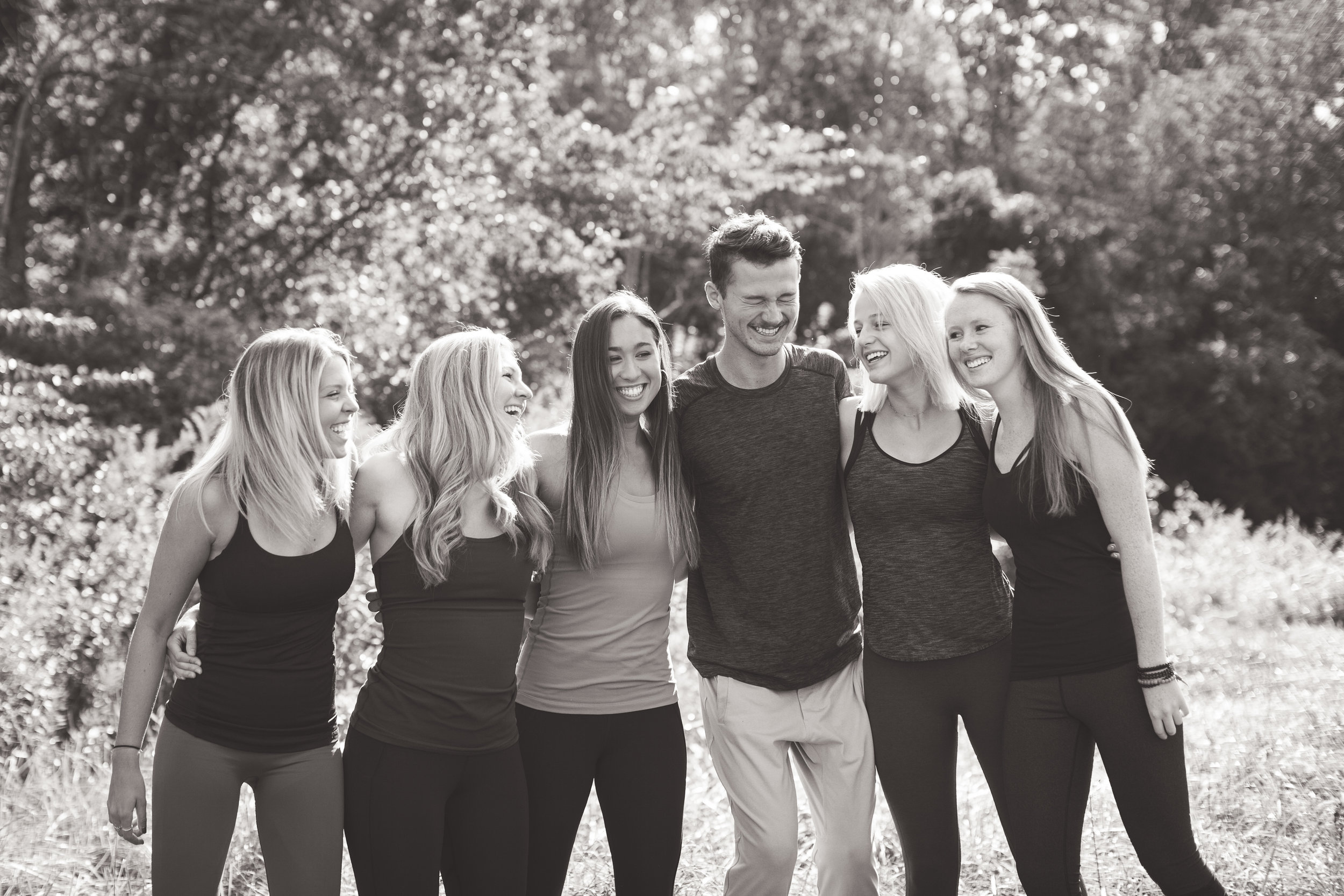 Left to Right: Paige, Libby, Sophie, Nicholas, Haezal, and Kacey