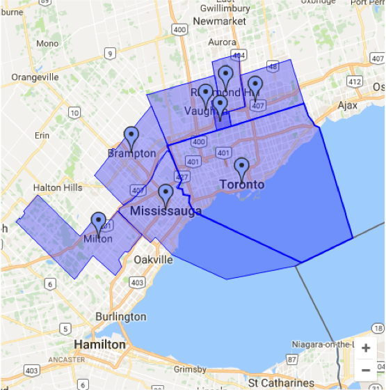 MealFix Canada Delivery Zone