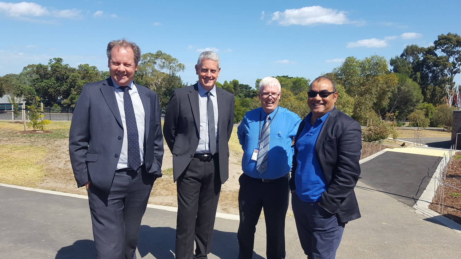 Anthony Baldasso, Steven Cortese, Peter Forbes, Aswhood's Facilities Manager & Dev Mistry