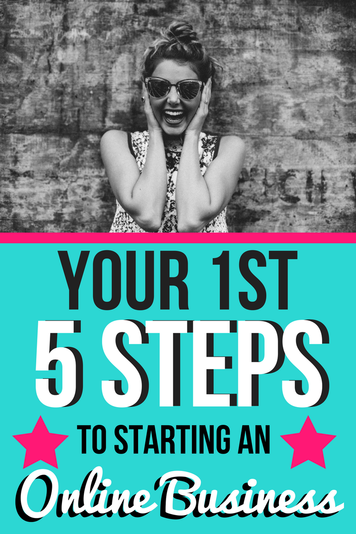 5 Actions to Take when you Have BIG Entrepreneurial Dreams (but don't know the next steps) | The 5 must-do Steps when starting a business. It's hard when you're got big dreams, but don't know where to start! We're breaking in down into your first 5 steps to get going.