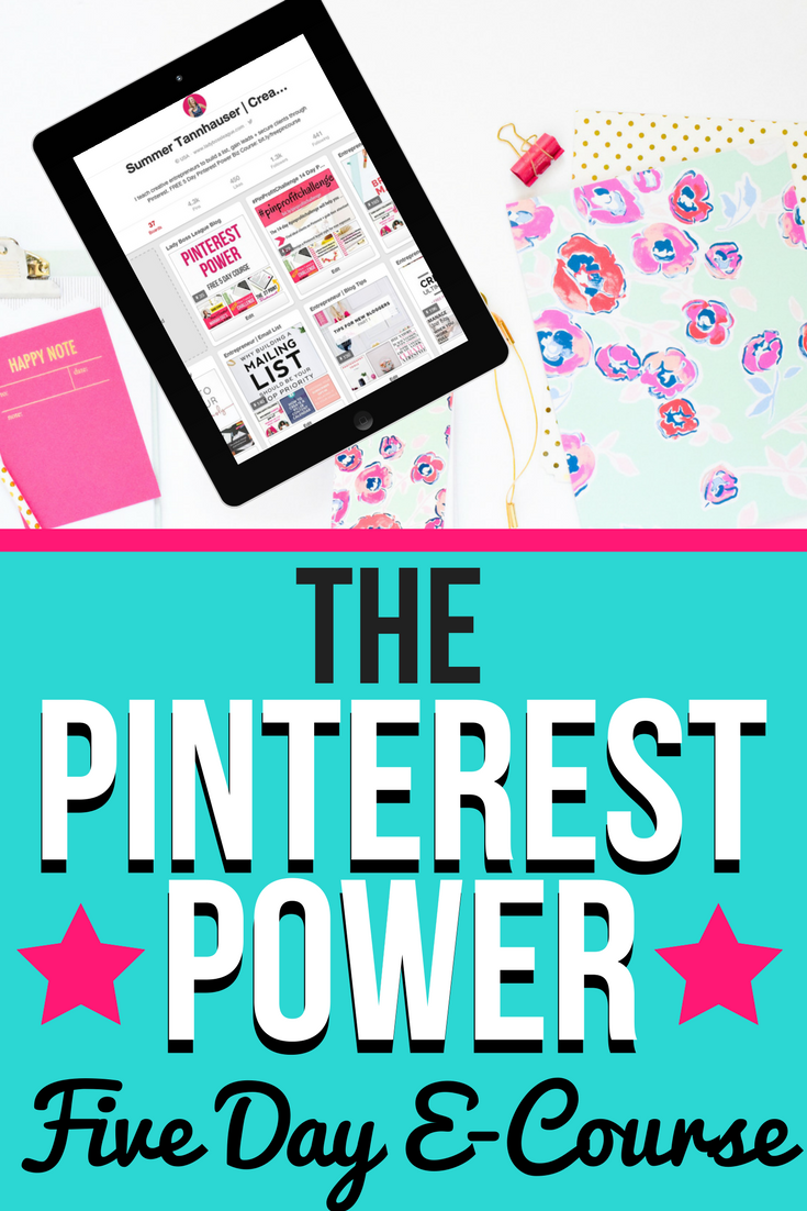 Pinterest Power: FREE 5 day course | The ultimate guide to gaining traffic, leads, and clients through Pinterest. Designed for creative entrepreneurs who are ready to stop worrying about where to find their next client by harnessing the power of Pinterest for business!