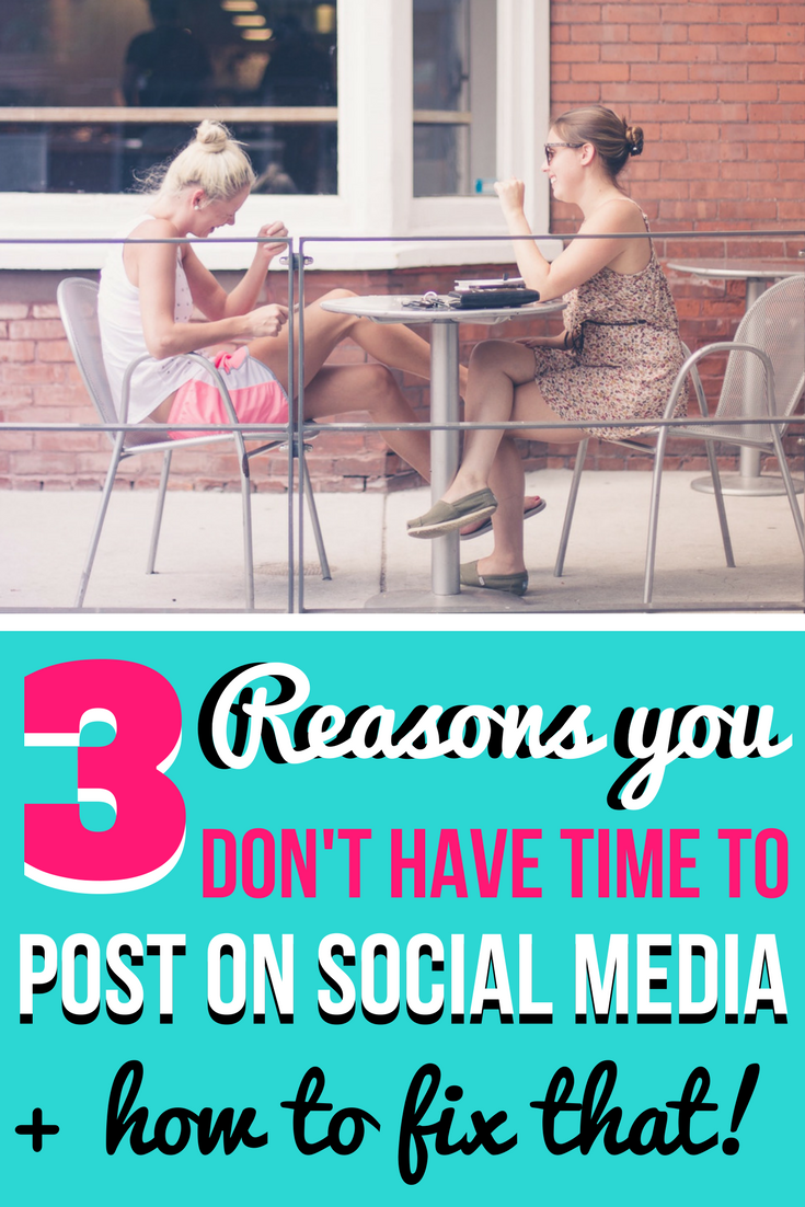The Top 3 Excuses why you can't find time to post on social media | We all know we're suppose to be tweeting, posting, and pinning daily, but sometimes you just don't feel like there is enough time in the day to do it all! I'm showing you how to put these excuses to rest.