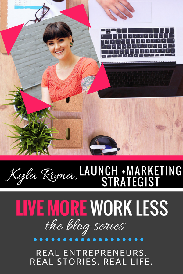 Create a Live More, Work Less Lifestyle as an entrepreneur! Read Kyla's real life stories >> #entrepreneur #workfromwherever #livemoreworkless
