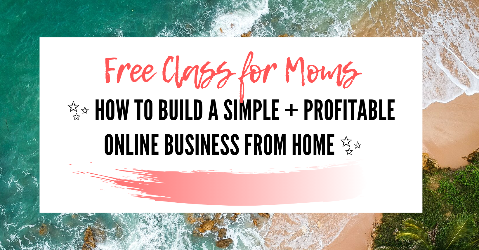 how to make money for stay at home moms free class