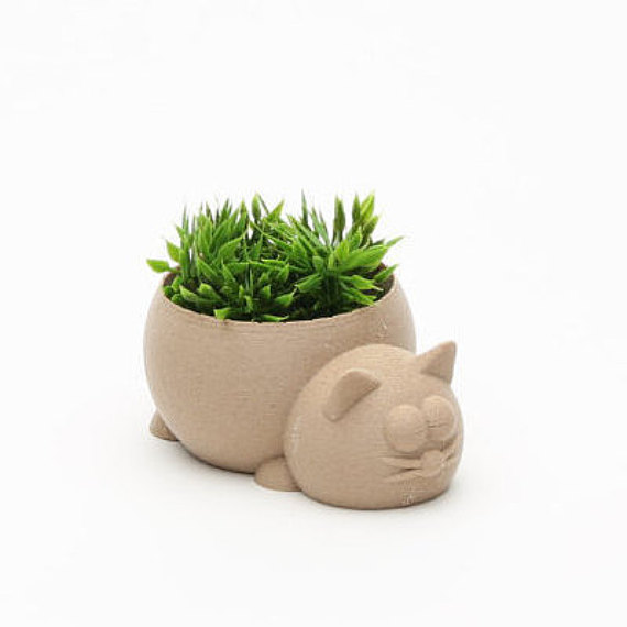 Sleepy Cat Planter