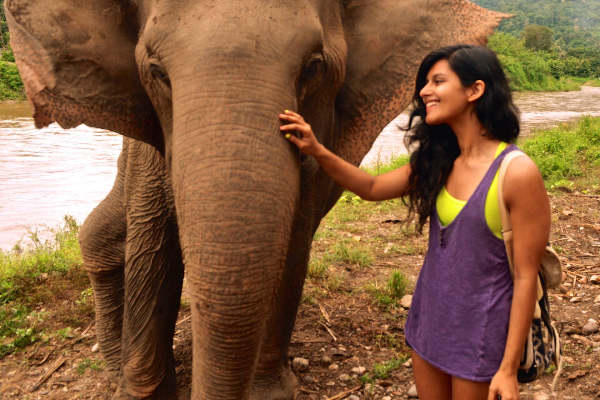 Elephant Sanctuary, Thailand (Her name is Jokia!)
