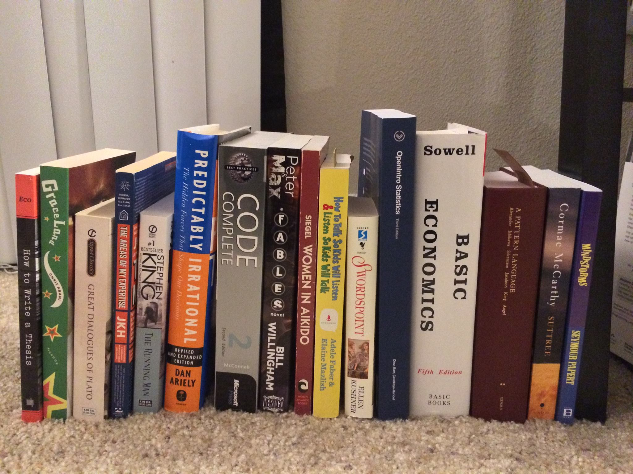 My next set of books to read from left to right