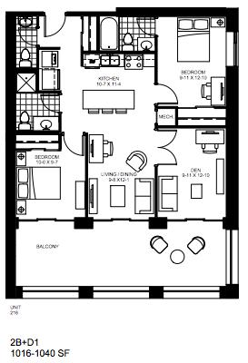 2 Bedroom + Den   2 + Den 1. $2,200   SOLD OUT