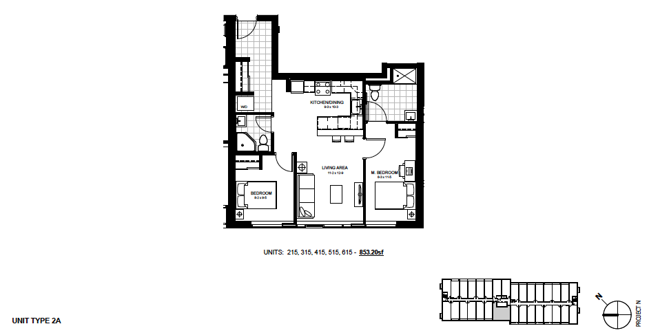 2 Bedroom Suite   2A. $1,850 / month   SOLD OUT     Click For Virtual Tour