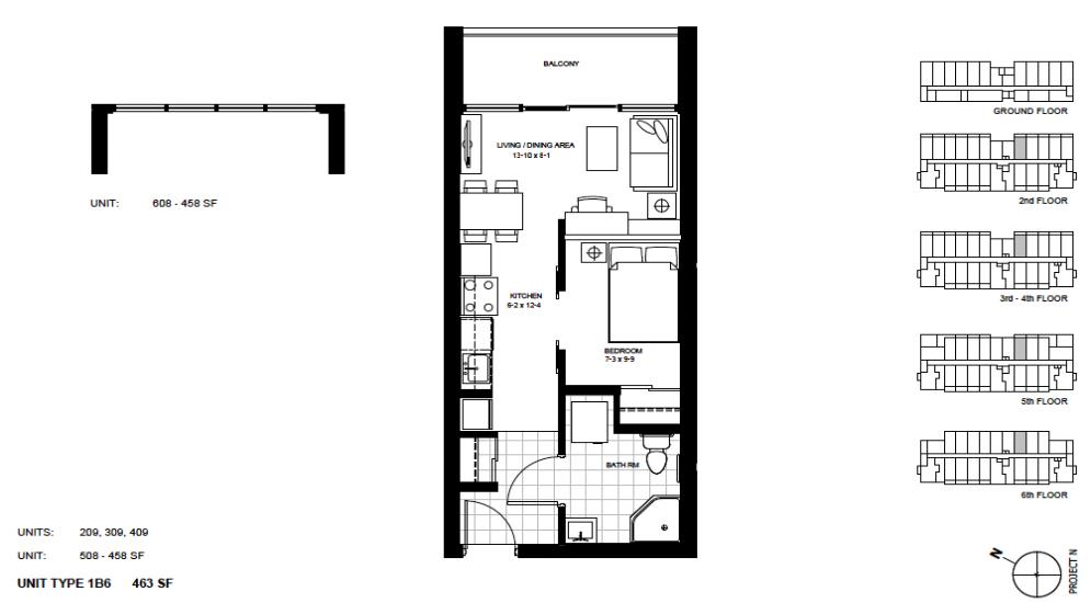1 Bedroom Suite    1B6.   $1,450 / month