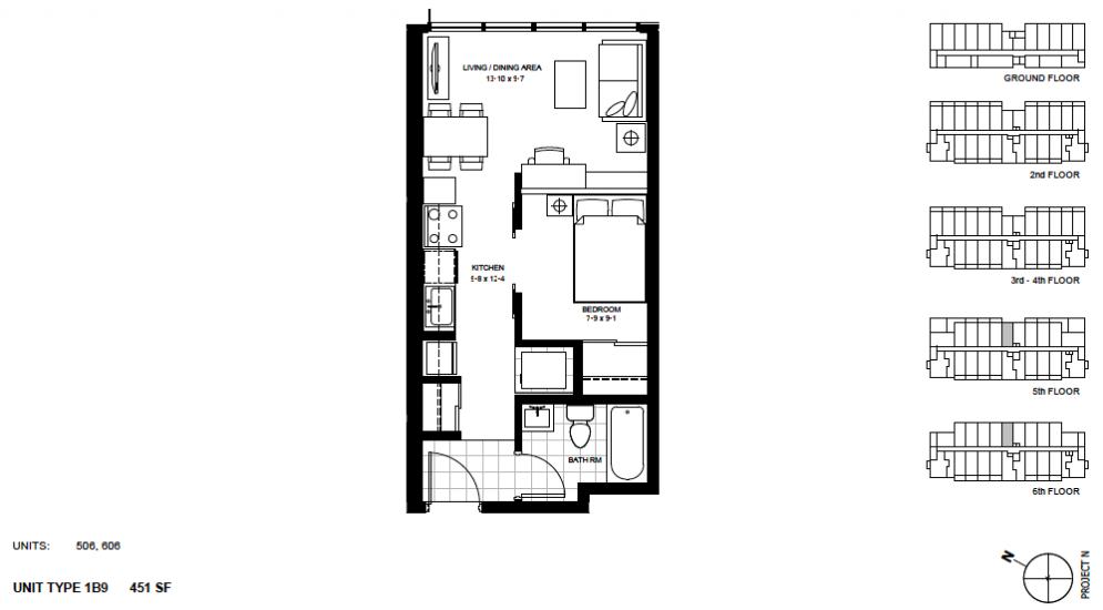 1 Bedroom Suite    1B9 .  $1,450 / month