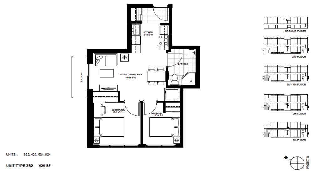 2 Bedroom Suite    2B2.   $1,850 / month