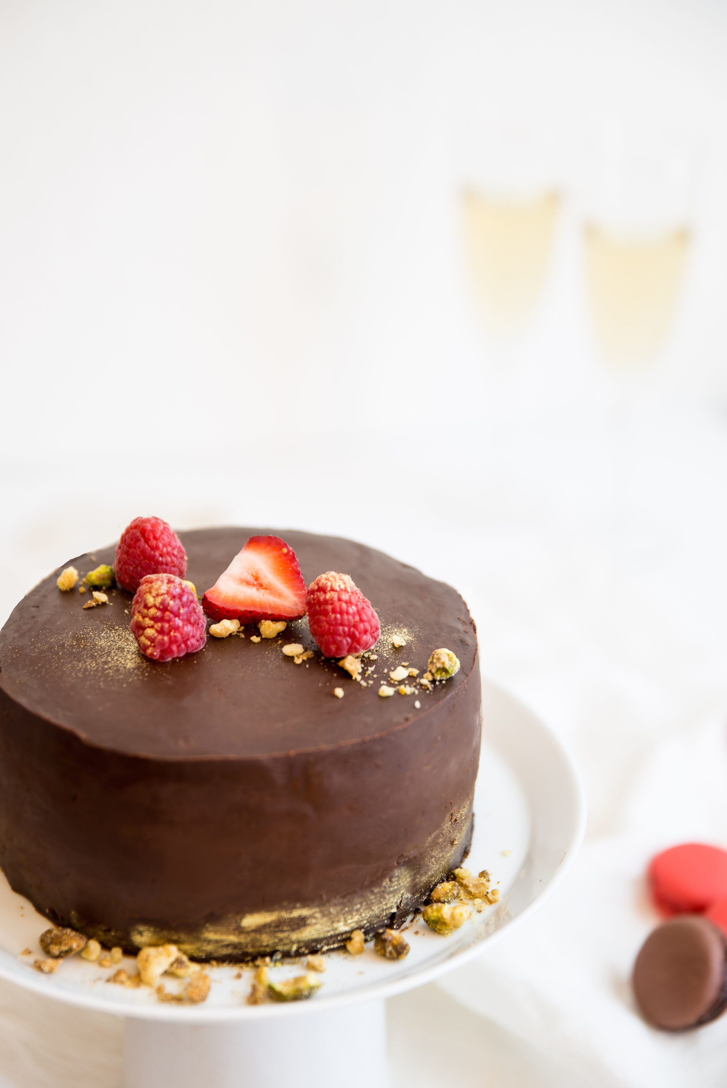 Dark Chocolate Cake by Peggy's Kitchen
