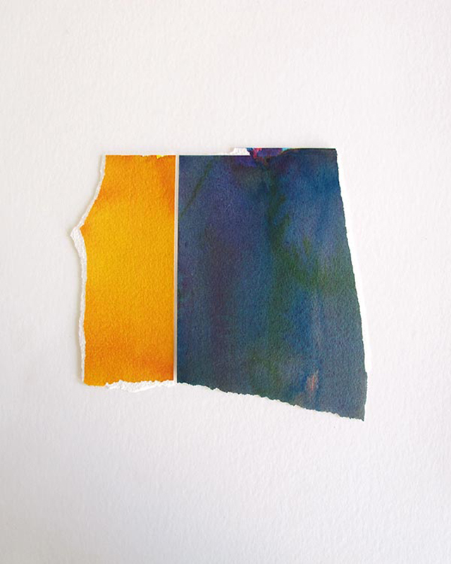 Miles Hall, Untitled V, 2013. Watercolour on Arches paper 42 x 31 x 3.5cm. Photo:  Jan Manton Art