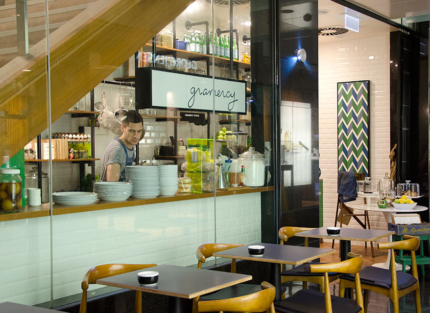 Gramercy Espresso and Eats is tucked underneath the stairway to Winnie Bridal at the Edward Street end of the Wintergarden. Photo:  Ezra La Vin