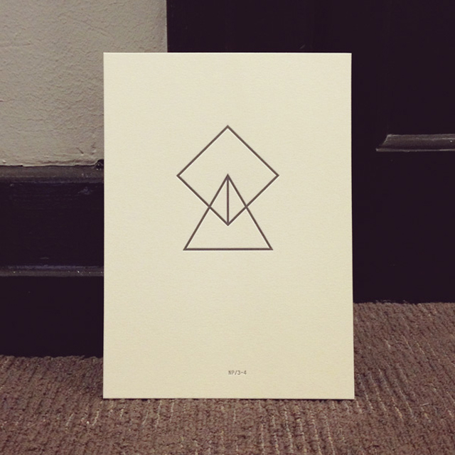 NP/3-4 print designed by The Letter D and pressed by The Hungry Workshop. $44.00. Photo:  Capital P