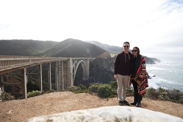 Rory and Kati holidaying at Big Sur, California, earlier this year. Photo: Mast Furniture
