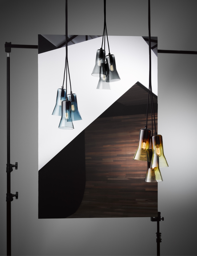 Clustered Touch Glass pendants. Photo:  Ross Gardam