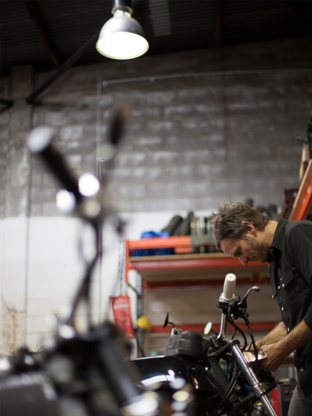 Steve Barry in the Ellaspede workshop. Photo: Tammy Law