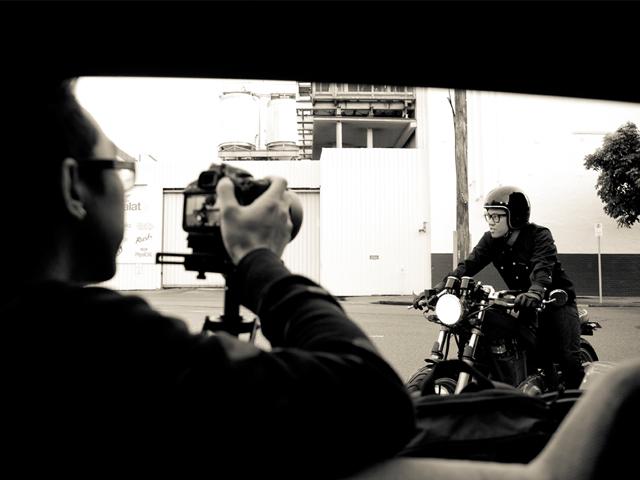 Leo Yip taking an Ellaspede bike for a test drive. Photo: Tammy Law
