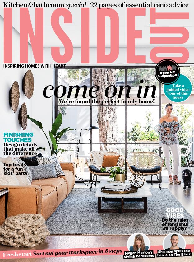 Georgia Cannon in Inside Out magazine, Interior Designer Brisbane