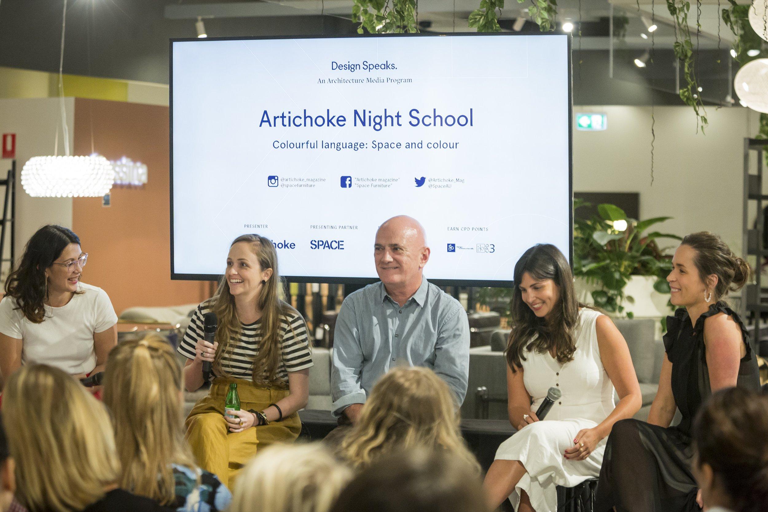 Artichoke Night School, Photographer: Ray Cash, Colourful Language, Georgia Cannon, Interior Design, Brisbane, Queensland