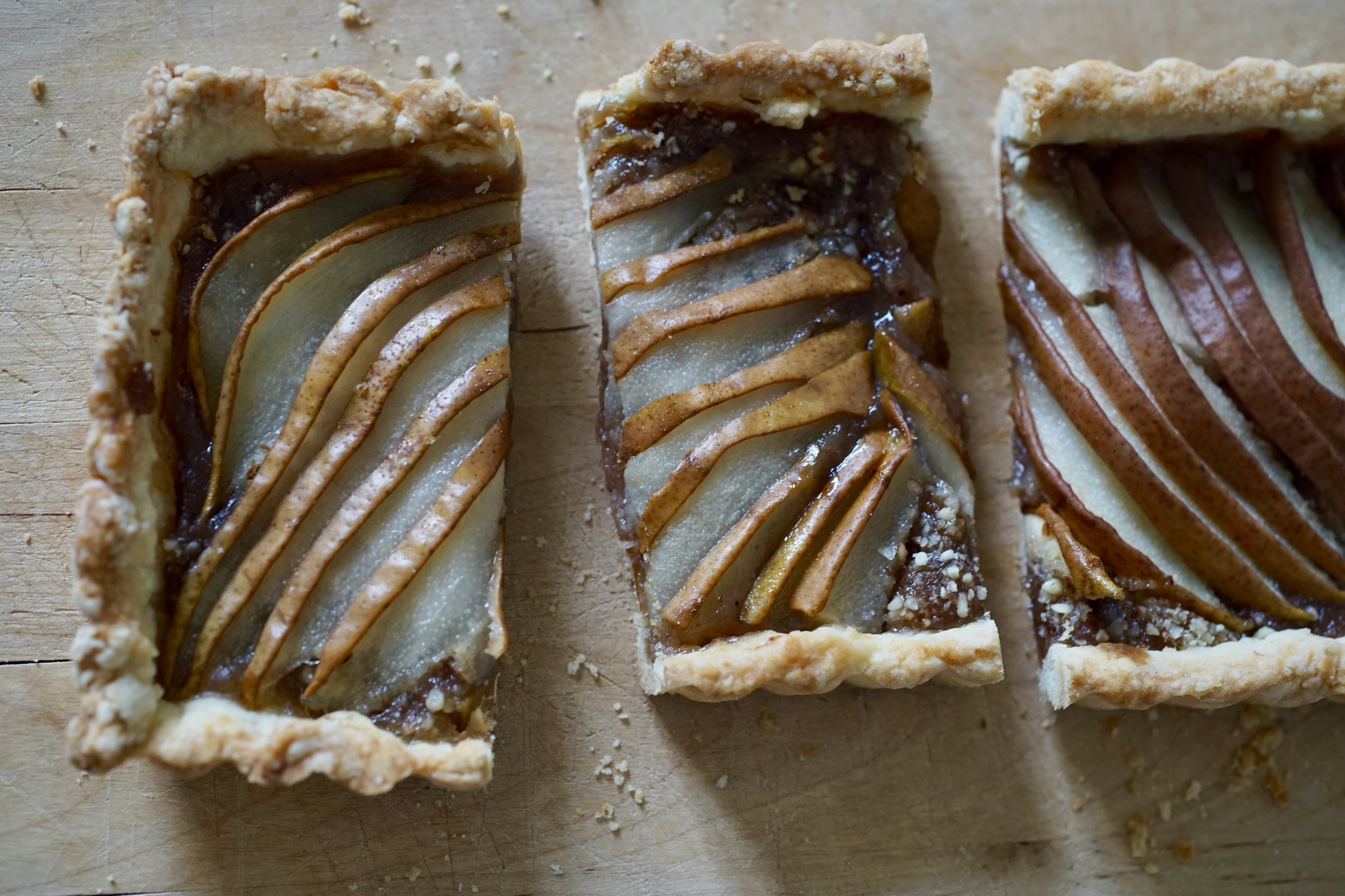 pear and chestnut tart