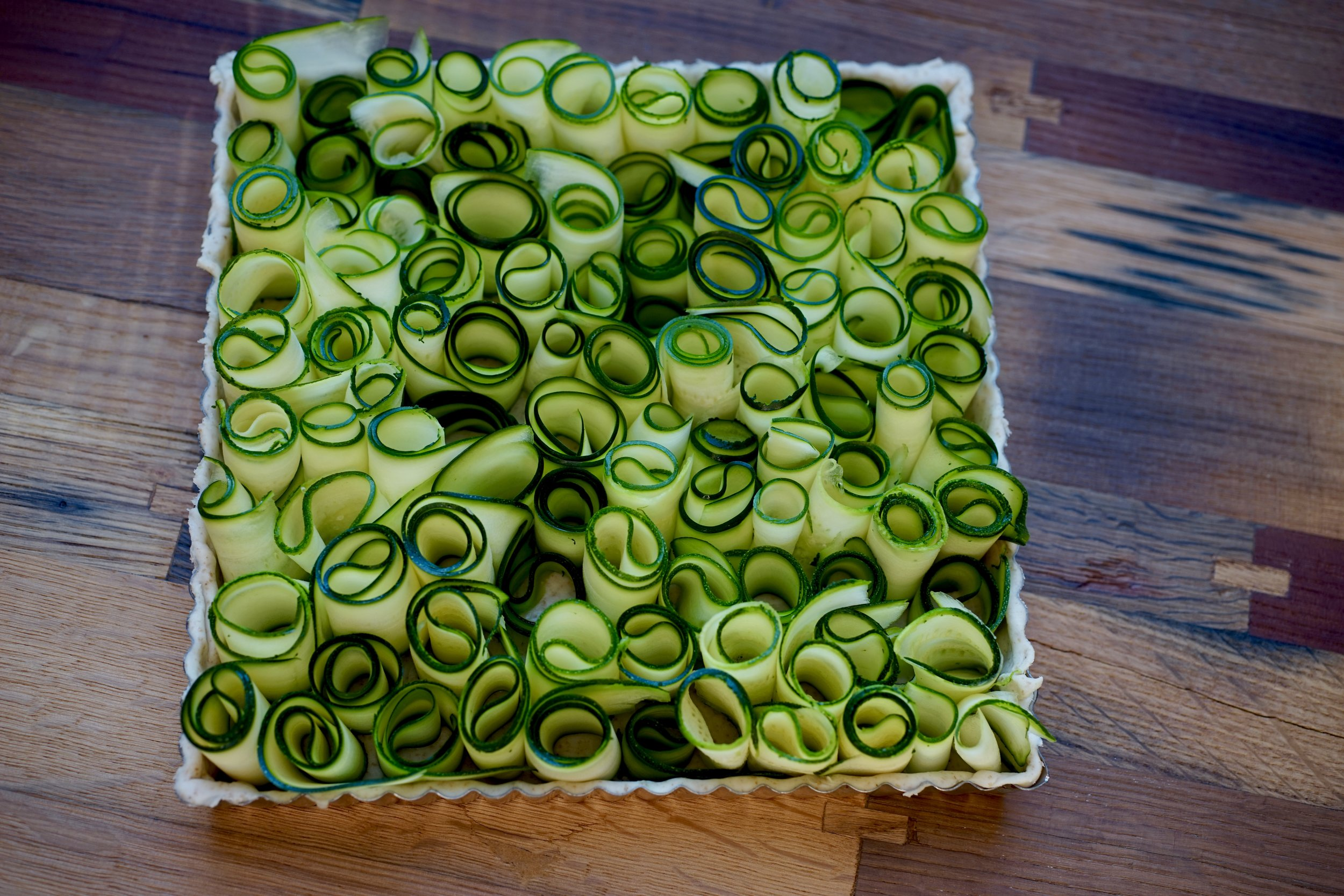 More from Vaud? - Vaudoise Mint and Zucchini Tart
