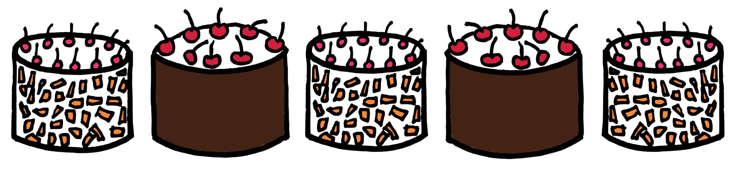 kirsch cakes
