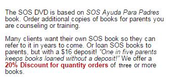 See SOS Spanish español study sheets and free resources at SOS Self Help Programs.