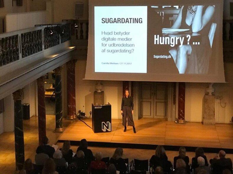 Foredrag om digitale mediers betydning for sugardating.