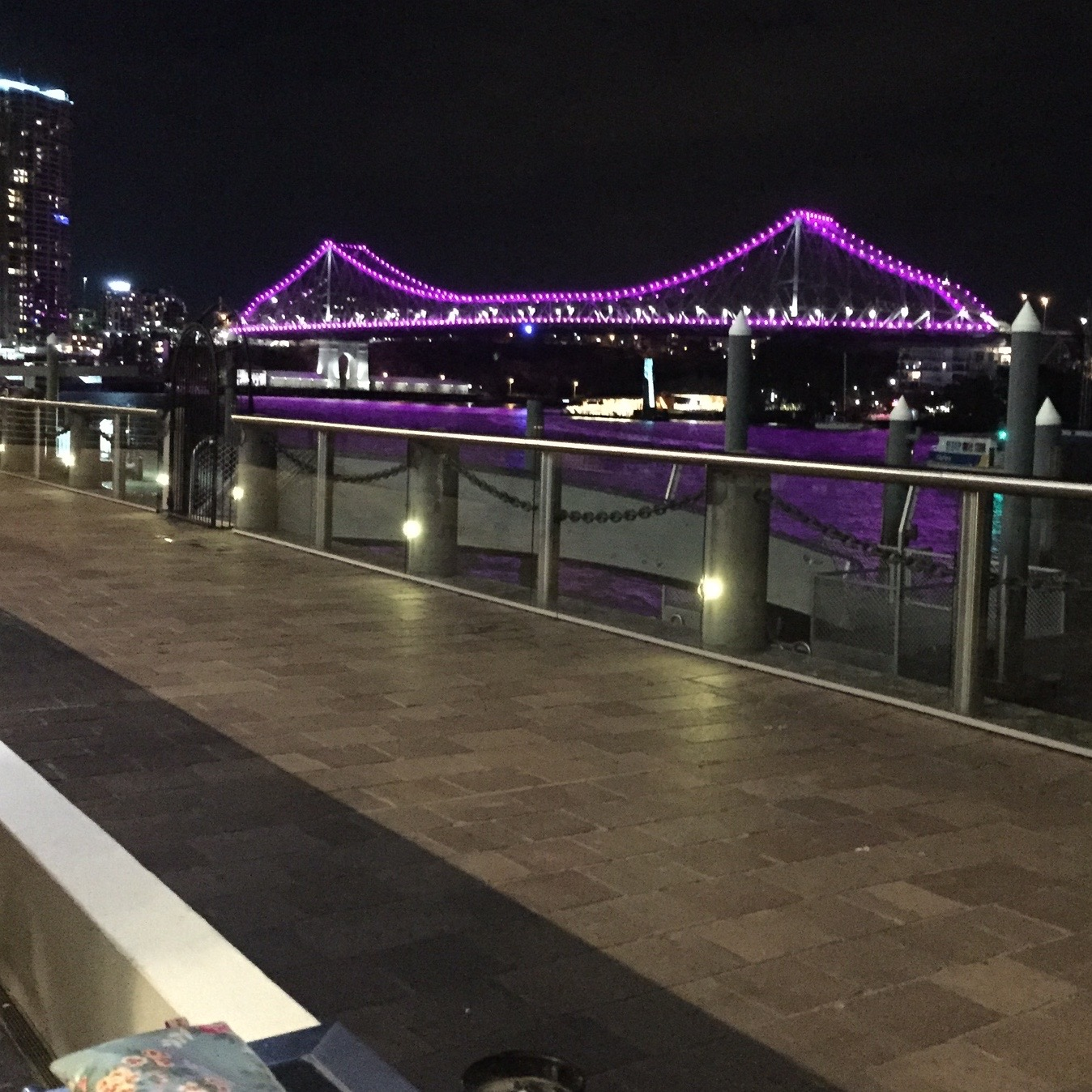 View from our table at Jellyfish. An outstanding spot to enjoy the scenery,including the boats cruising up and down the river and fabulous people watching as locals hitting the town after work mingle with tourists out for the night.