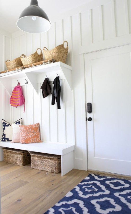 This family friendly entry way has fantastic storage, is functional - and it looks great!  (this ones from  Pinterest )