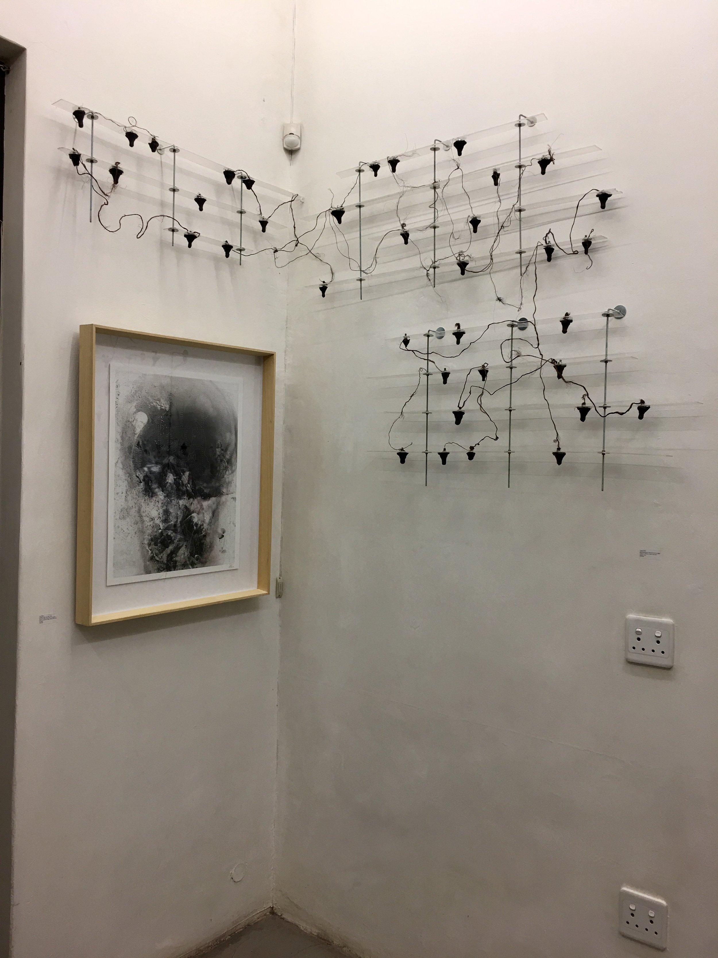 """""""Etched under my skin"""" installation view"""