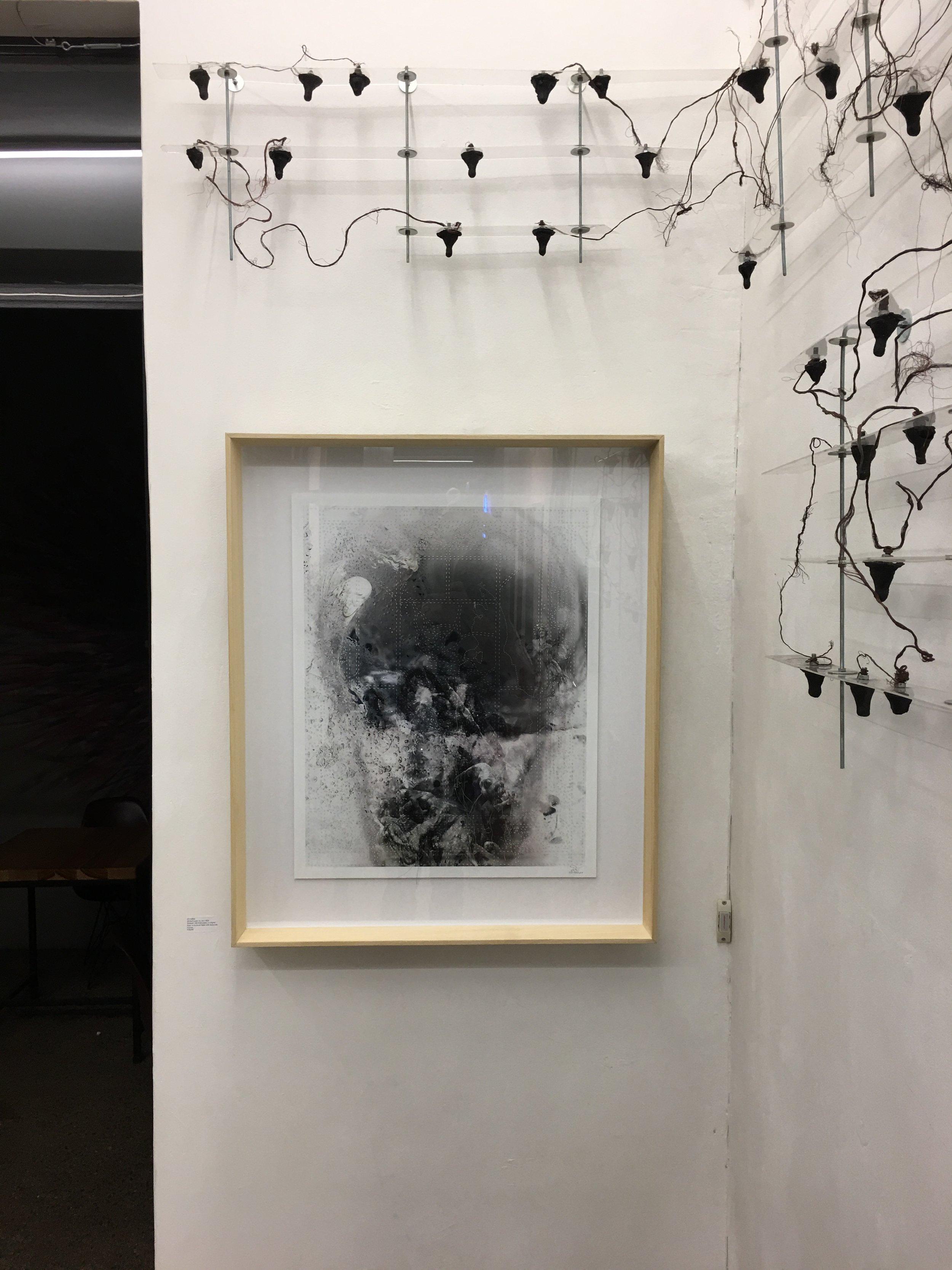 """""""Etched under my skin"""" installation view."""