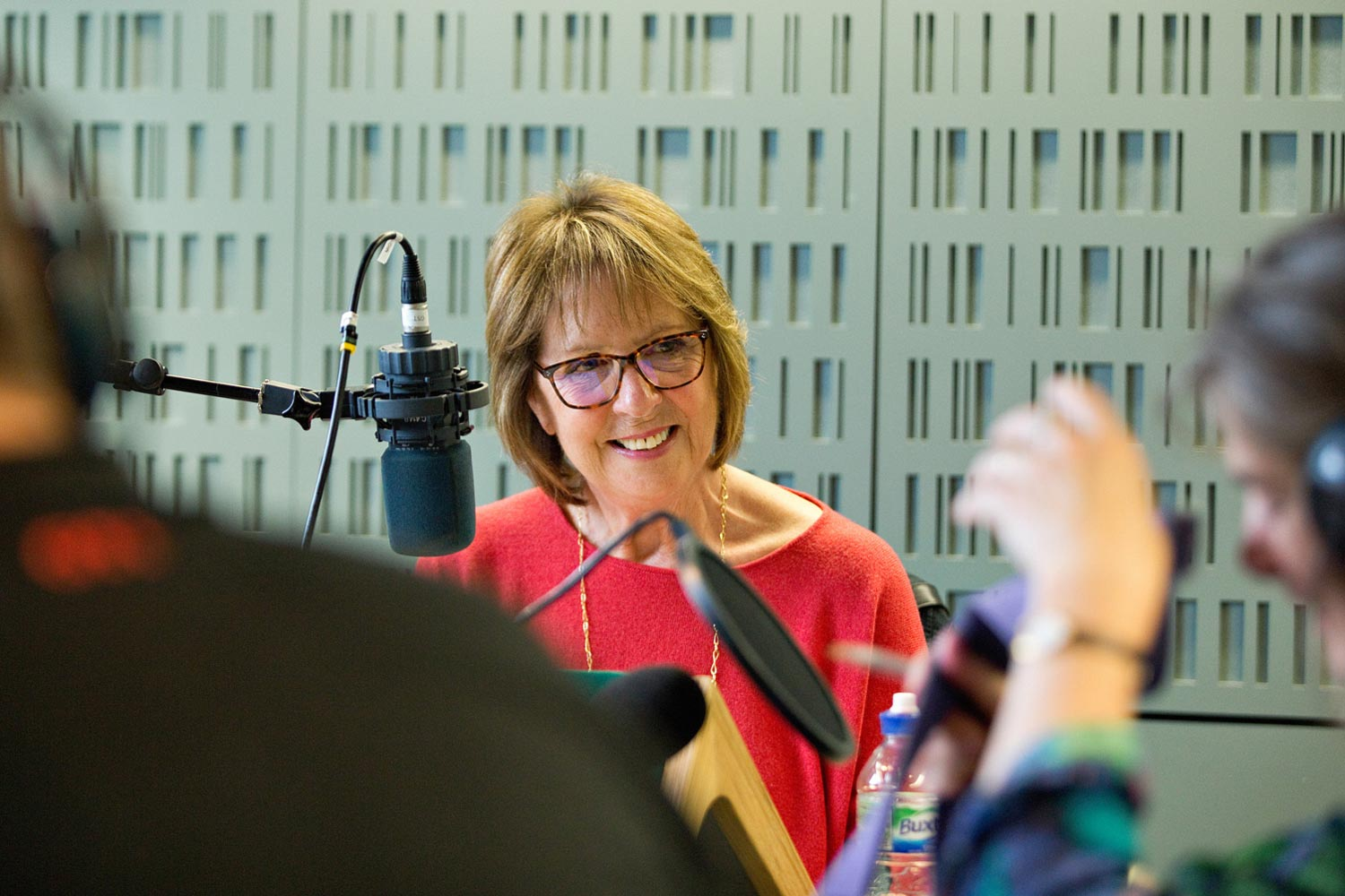 Penelope Wilton recording BBC Radio 4 appeal for Christian Blind Mission