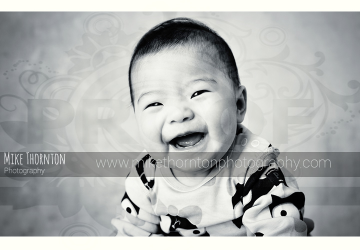 smiley baby photography