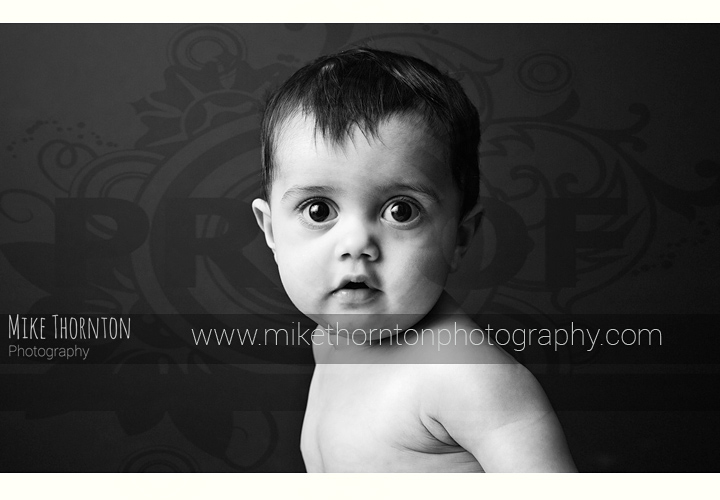 black and white artistsic baby photography