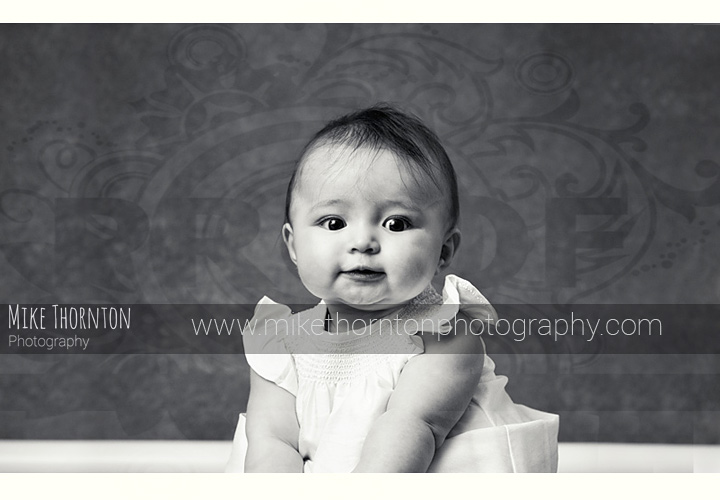 black and white baby photographer