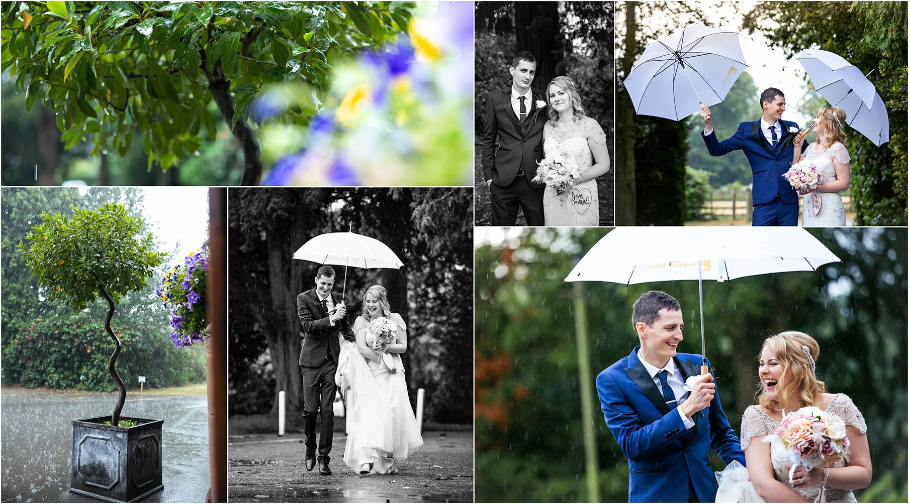 wet wedding photography