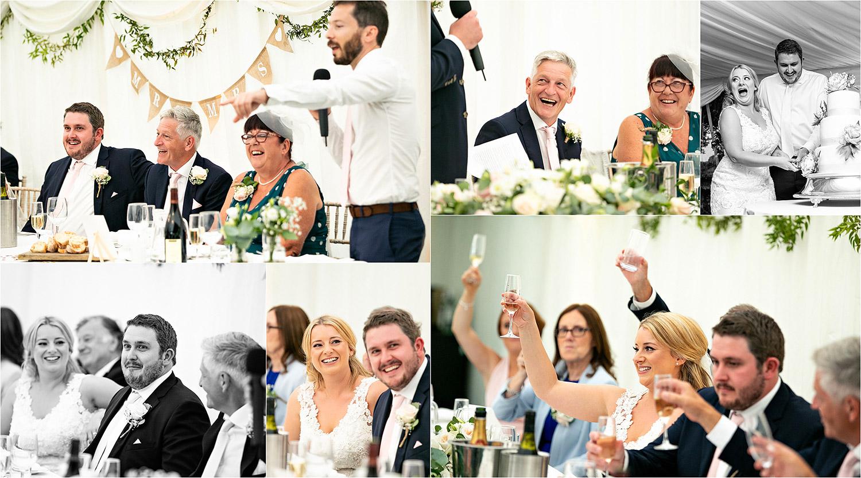 Speeches wedding photography at Rectory Farm cambridge